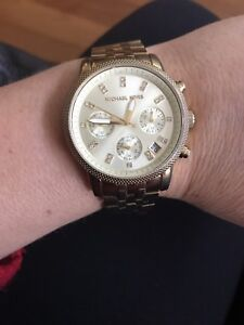 MICHAEL KORS GOLD-TONE STAINLESS STEEL WATCH