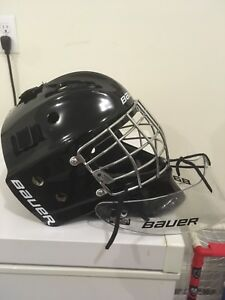 Youth Bauer goalie mask with dangler