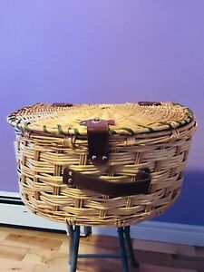 Strong woven wicker basket