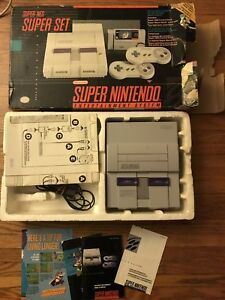 Super Nintendo SNES Console w/ box and manuals