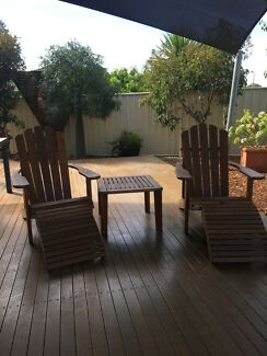 Adirondack Chairs, Footstools And Table Part 75