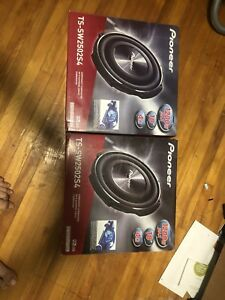 Pioneer shallow mount subs