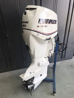 90hp Evinrude Etec outboard motor immaculate condition