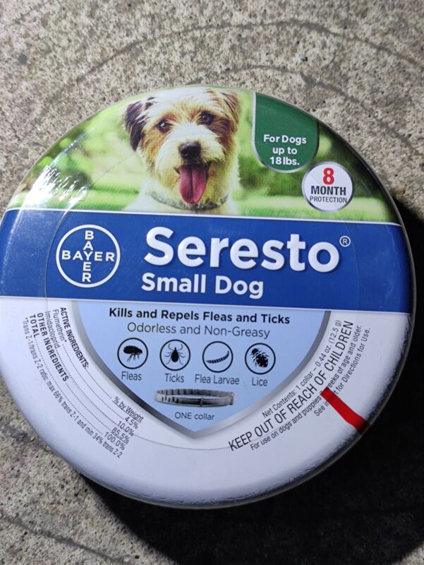Bayer Seresto Flea and Tick Collar for Dogs, 8-Month Flea and Tick Collar