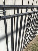 Clearance priced wrought iron fencing packages