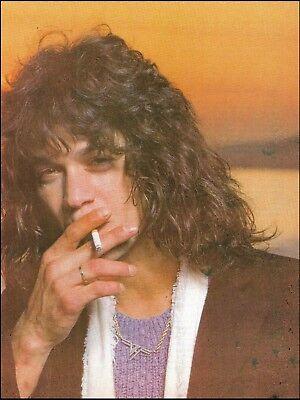 Eddie Van Halen classic close-up 8 x 11 color pin-up photo