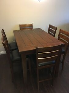 Pub Style Large Dining Table (6 chairs)