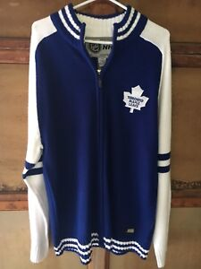 Adult Large Leafs Zip Up Sweater