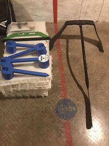 Dry land hockey tiles