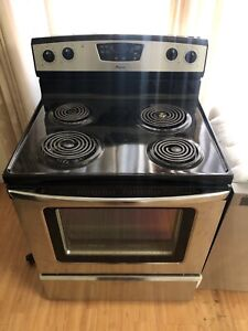 "Like new amana stainless steel 30"" coil electric stove range"