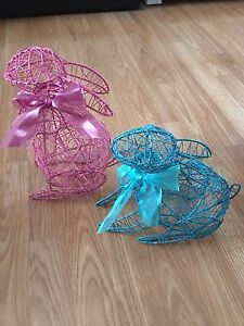 Wire Easter Bunnies