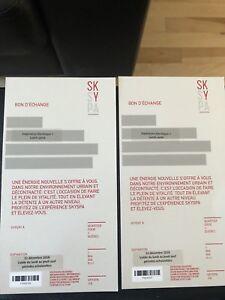 2 billets pour SkySpa Brossard et Quebec forfait lunch et spa
