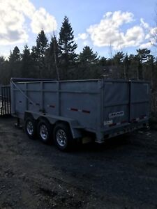 Galvanized dump trailer