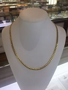 10k yellow gold 22inche curb link chain