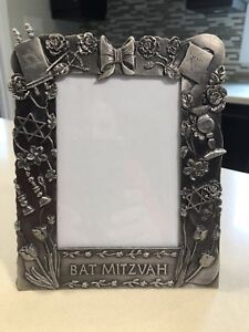 Pewter picture frame (Bat Mitzvah), fits 4x6 picture