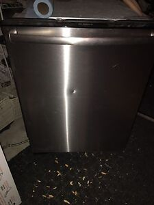 GE fridge /Samsung gas stove /Bosch steel in and out dishwasher
