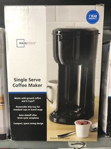 MAINSTAYS SINGLE SERVE K-CUP & BREW COFFEE MAKER- mnx