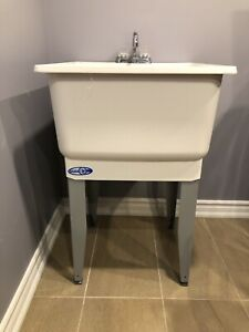Utilatub Combo Laundry Tub Floor Mount with Faucet