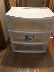 Two 3 Drawer Dresser Storage bins