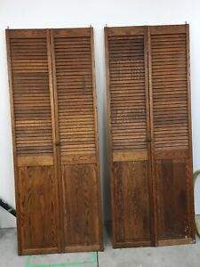 Oak bifold door