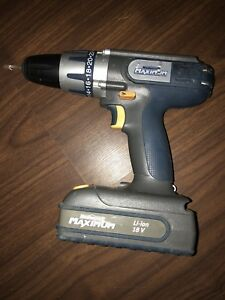 Lightly used Mastercraft 18V cordless drill with charger