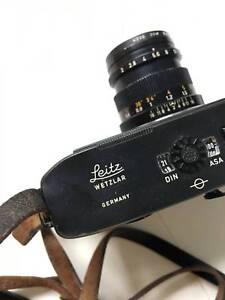 Vintage Leica M5 35mm Rangefinder Film Camera & 3  x Leica Lenses
