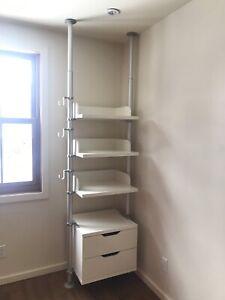 CURRENLY RESERVED/SOLD-IKEA Stolmen closet wardrobe organizer
