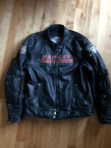 Harley Davidson Alternator 2 in 1 Leather Jacket Size M
