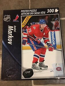 NEW! Montreal Canadiens 300 piece Andrei Markov poster puzzle