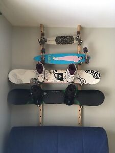 Rack mural snowboard skateboard (wall mount)