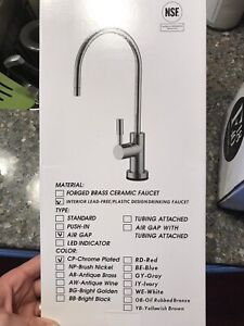 Brand New, Kitchen drinking water faucet
