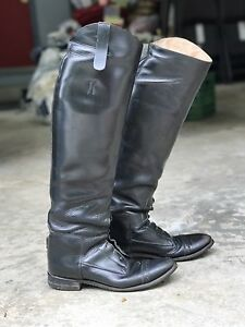 Hunter/Jumper Leather Riding Boots (size 7)
