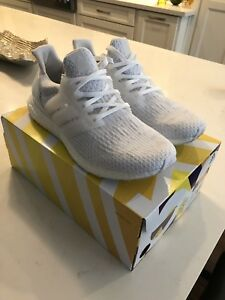 Adidas Ultraboost 3.0 Triple White Mens 10.5