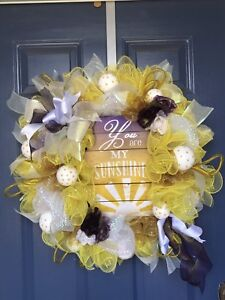Welcome sunshine wreath.