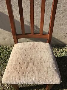 Timber dining chairs Casula Liverpool Area Preview