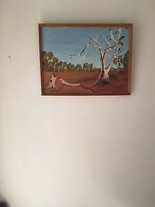 Painting in wooden frame Craigie Joondalup Area Preview