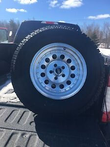 Tires studded with rims for ranger