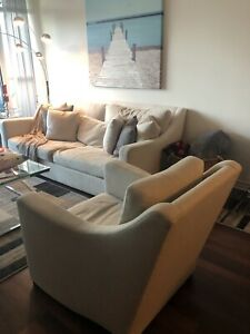 CONDO MOVING SALE: CRATE AND BARREL VERANO SOFA & CHAIR