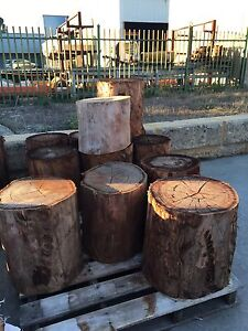 FIREWOOD CHOPPING BLOCKS  (JARRAH)  YOUR FIRST CHOICE IN FIREWOOD Malaga Swan Area Preview