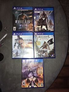 PS4 Mint Games. $10 Each or 5 for $40