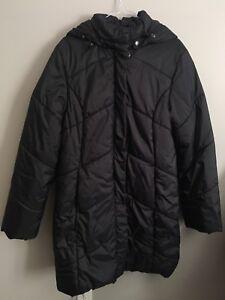 Black Kanuk Winter Coat with Real Fur / Manteau d'Hiver Kanuk