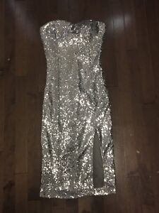 Woman's sparkly dress