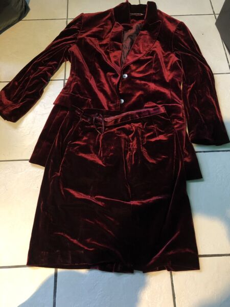 Velvet Blazer Skirt Suit