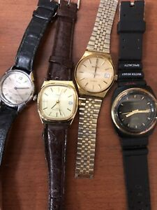 13 vintage mechanical/automatic watches