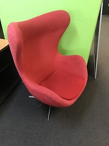 Cool red swivel chair Broadbeach Gold Coast City Preview