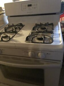 Frigidaire gallery white gas stove