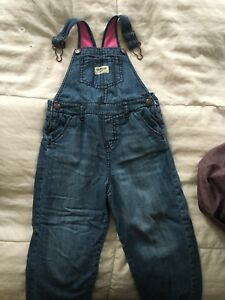 Osh kosh girls fleece lined overalls 3T
