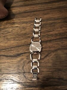 GUCCI model 125.4 stainless watch with diamonds