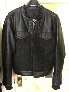 Espinoza Black Leather/Textile jacket