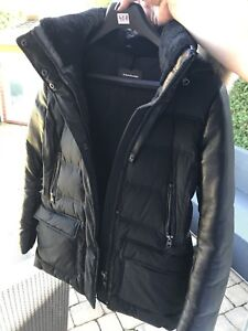 Mackage coat with leather sleeves